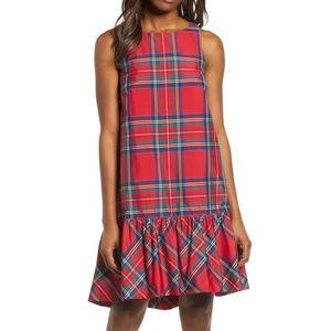 NWT VINEYARD VINES Amelia Jolly Plaid Swing Dress